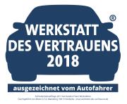Zufriedenheitsabfrage 2017 bei Kunden Freier Werkstätten. Durchgeführt von Mister A.T.Z.-Marketing, 58313 Herdeke - www.werkstatt-des-vertrauen.de