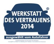 Zufriedenheitsabfrage 2013 bei Kunden Freier Werkstätten. Durchgeführt von Mister A.T.Z.-Marketing, 58313 Herdeke - www.werkstatt-des-vertrauen.de